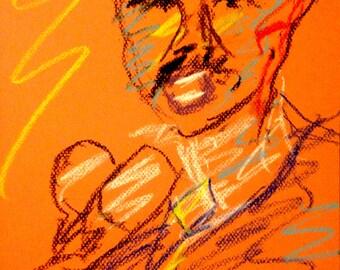 Original Pastel Drawing from Artisan - Rodney King