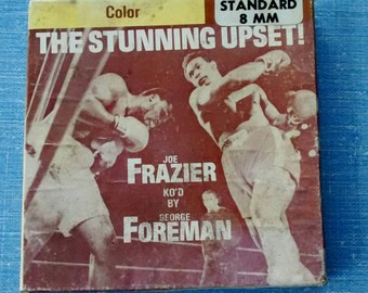 8mm filmstrip of famous 1973 boxing match: Joe Frazier vs George Foreman