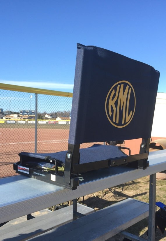 personalized stadium chair folding bleacher seat