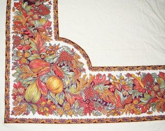 Tablecloth  100% Cotton 60 X 106 Thanksgiving, Fall, Harvest,