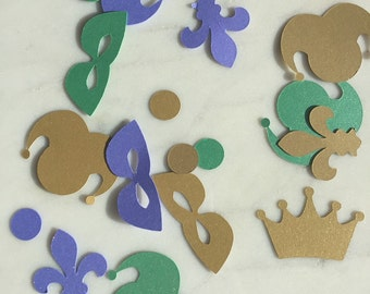 Mardis Gras Party Decorations - Table Scatter - Purim Confetti