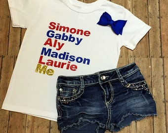 2016 USA Olympics Gymnastics Team Shirt - Baby Girl - Toddler - Child