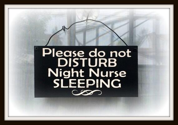 Nurse Sleeping Do Not Disturb Sign Night Shift Worker