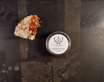 Earl Grey & Honey Lip Balm: 1 oz. Raw Beeswax Lip Balm With Organic Flavor From Aziz Light Apothecary  FALL AUTUMN PICK