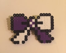 Pixel Perfect Hair Bow Barrette in purple