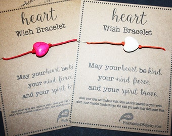 12 Heart Wish Bracelets - Assorted Colors - Great For Valentine's Day ... Birthday Party Favors