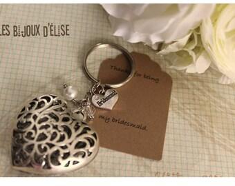 Bridesmaid Gift Bridesmaid Keychain, Maid of Honor Keychain, Flower Girl Keychain