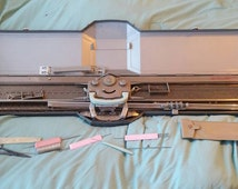 On Sale Vintage ARS Knitting Machine with Original Case for Handmade Items and Crafting