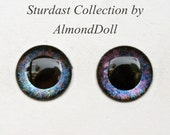 New Stardust Collection - ooak Enlarge Blythe hand painted eye chips no.689 by AlmondDoll