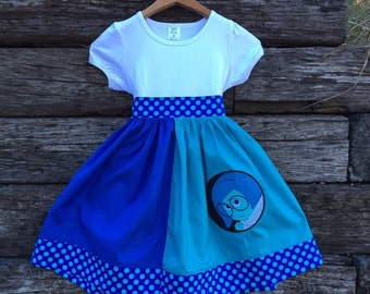 Sadness Inside/Out Inspired Shirt Dress for Girls  Sizes 6m-12yrs.  By Hoot n Hollar Children's Clothing