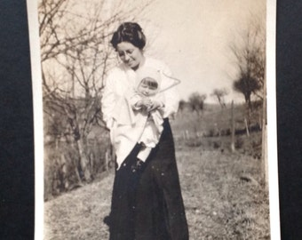 Vintage Photo Snapshot Vernacular Photo Mother Child Mother's Day