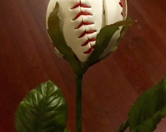 12 Baseball Roses/ Baseball Flowers made from Real Baseballs great for gifts