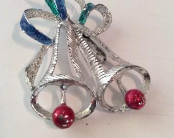 Christmas bell brooch 2 in