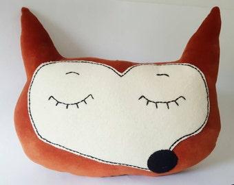 Russett Brown Fox Face cushion