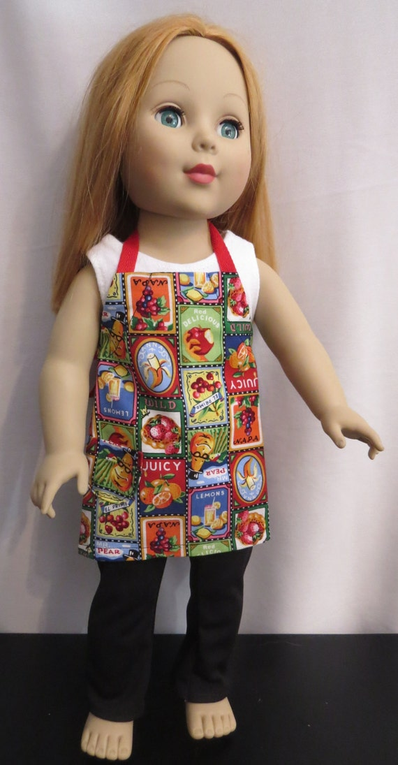 Gardening apron for 18 inch dolls18 inch doll apron handmade for Garden tools for 18 inch doll
