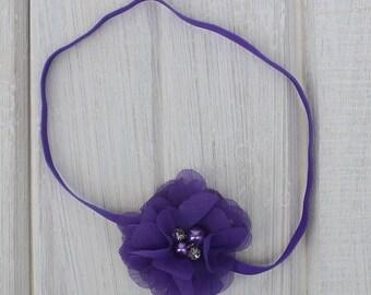 Flower Headband, Purple Baby Headband, Baby Headband, Purple Headbands, Purple Headband, Infant Headband, Newborn Headband, Baby Headbands