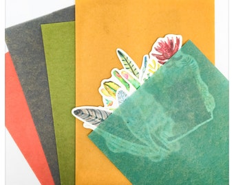 Colored Wax Paper Bags - Classiky Tairabukuro SM or Med