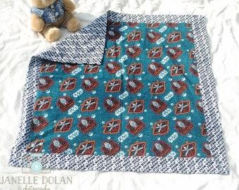 Star Wars ships flannel baby blanket-Large