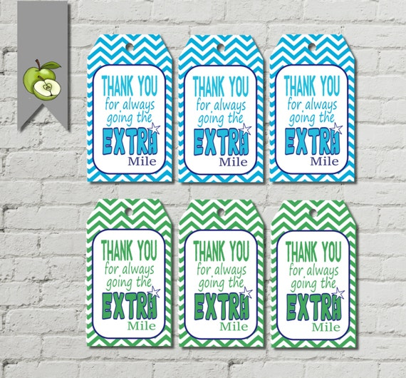 Sly image for thanks for going the extra mile printable
