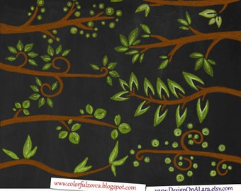 Chalk Branches Clipart, Chalk Tree Branch Clip Art, Forest tree digital chalk overlays, Colorful Chalk Brunches, Chalkboard Digital Branch