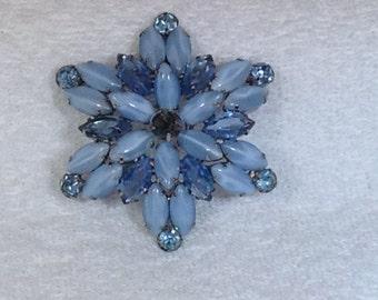 Vintage Blue Brooch