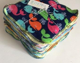 Cloth Wipes, 35 Reusable Family Cloth, Cloth Diaper wipes, set of 35