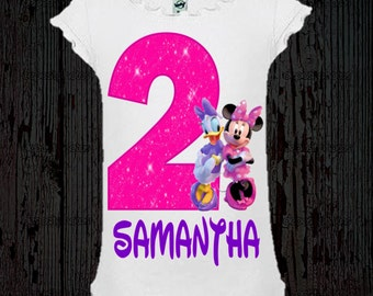 Minnie and Daisy Birthday Shirt - Girl Style Tee