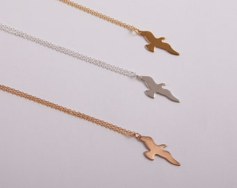 Fine Necklace Seagull Bird Necklace Choose Your Colour Gold Silver Or Rose Gold Birdy Necklace Anchor