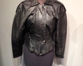 Vintage Leather Black Jacket