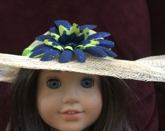 Doll hat fits American Girl Doll flowers