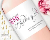 Be My Bridesmaid Wine Labels - Personalized Bridesmaids Gifts - Maid of Honor Wine Label - Asking Bridesmaid - I can't say I Do without you
