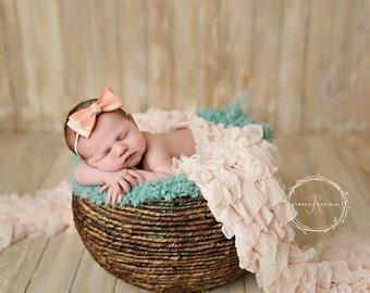 Ruffle Blanket, Pink ruffle blanket, Photography background, photography blanket, newborn blanket,