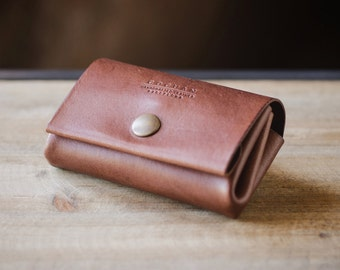 Leather card coin wallet