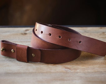 Men's Leather Belt | Rustic Leather Belt | Leather belt without buckle