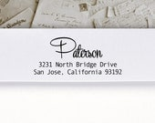 Self-Inking Address Stamp or Wood Address Stamp, Return Address Stamp, Envelope Stamp, Custom Stamp - Paterson