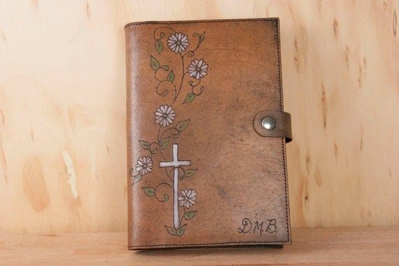 handmade leather bible covers custom leather monogram bible cover or journal handmade with 6375