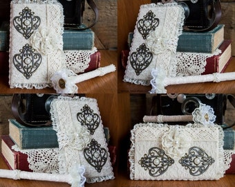 SALE!! Shabby Chic Bridal Diary/Wedding Journal With Matching Pen Set