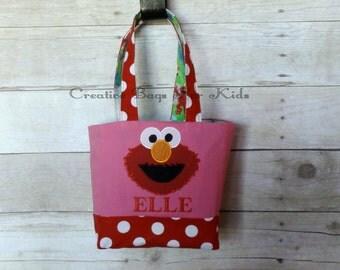 Elmo Bag/ Elmo Lunch Bag/ Elmo Purse/ Elmo Kids Tote Bag/ Pesronalized Elmo bag/ Kids tote bag (matching pillowcase dress available)