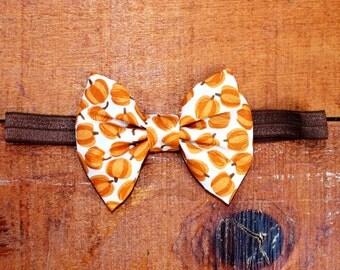 SALE! Pumpkin Harvest Bow or Headband