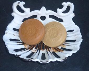 french white cast iron enamel soap dish