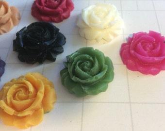 Rose embellishment, scrapbook supplies, handmade scrapbook embellishments, floral embellishments, greeting card embellishments, cardmaking