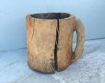 Handmade Primitive Rustic Wood  Bowl,Decorative Wood Pots,Unique Bowl
