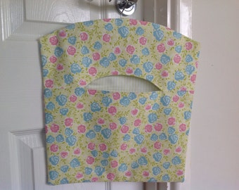 Pretty Lime Floral Fabric Peg Bag, Clothespin Bag, Ashley Wilde 'Summersdale', Laundry Bag