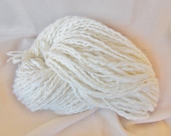 Hand Spun Alpaca Spiral Yarn - 2 ply w/kidsilk haze - 2.3 oz. - 113 yds