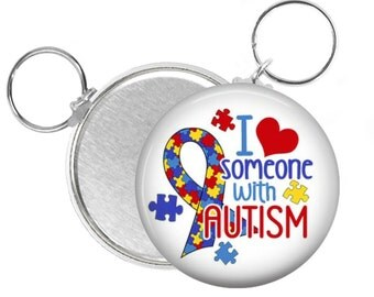 Autism Key Chain, I love someone with Autism, Autistic Key Chain, On the Spectrum, Autism Awareness, World Autism Day, Special Needs