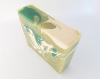 Coconut Lemongrass Soap, Handmade Soap, Cold Process Soap, Bar Soap, Vegan Soap, Palm Oil Free Soap, Soap, Sale, On Sale