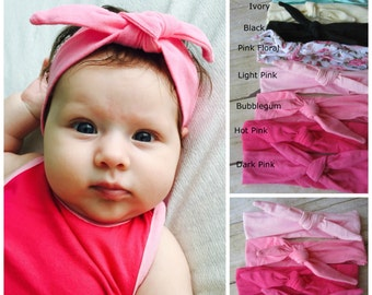 Top Knot Headband...Top Knot Baby Headbands...Top Knot Headband Baby...Pick Your Color...Baby Girl Headbands...Baby Headband Set...Baby Girl
