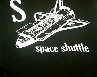 S is for Space Shuttle Baby/Toddler T-shirt- The Offbeat Alphabet Series
