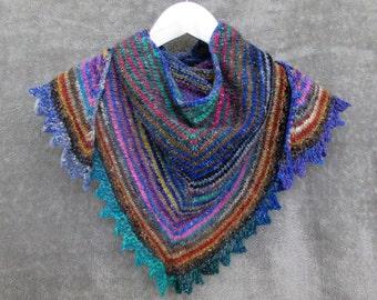 Rainbow Shawl - Wool Silk Stripes - Noro - Original Design