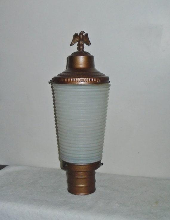 antique indoor outdoor electric lamp post lantern w ribbed. Black Bedroom Furniture Sets. Home Design Ideas